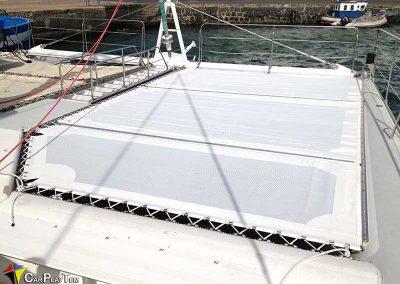 Fabricacion de Trampolines para catamaran 1