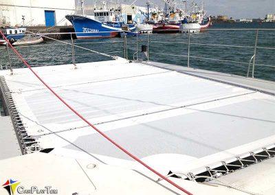 Fabricacion de Trampolines para catamaran 5