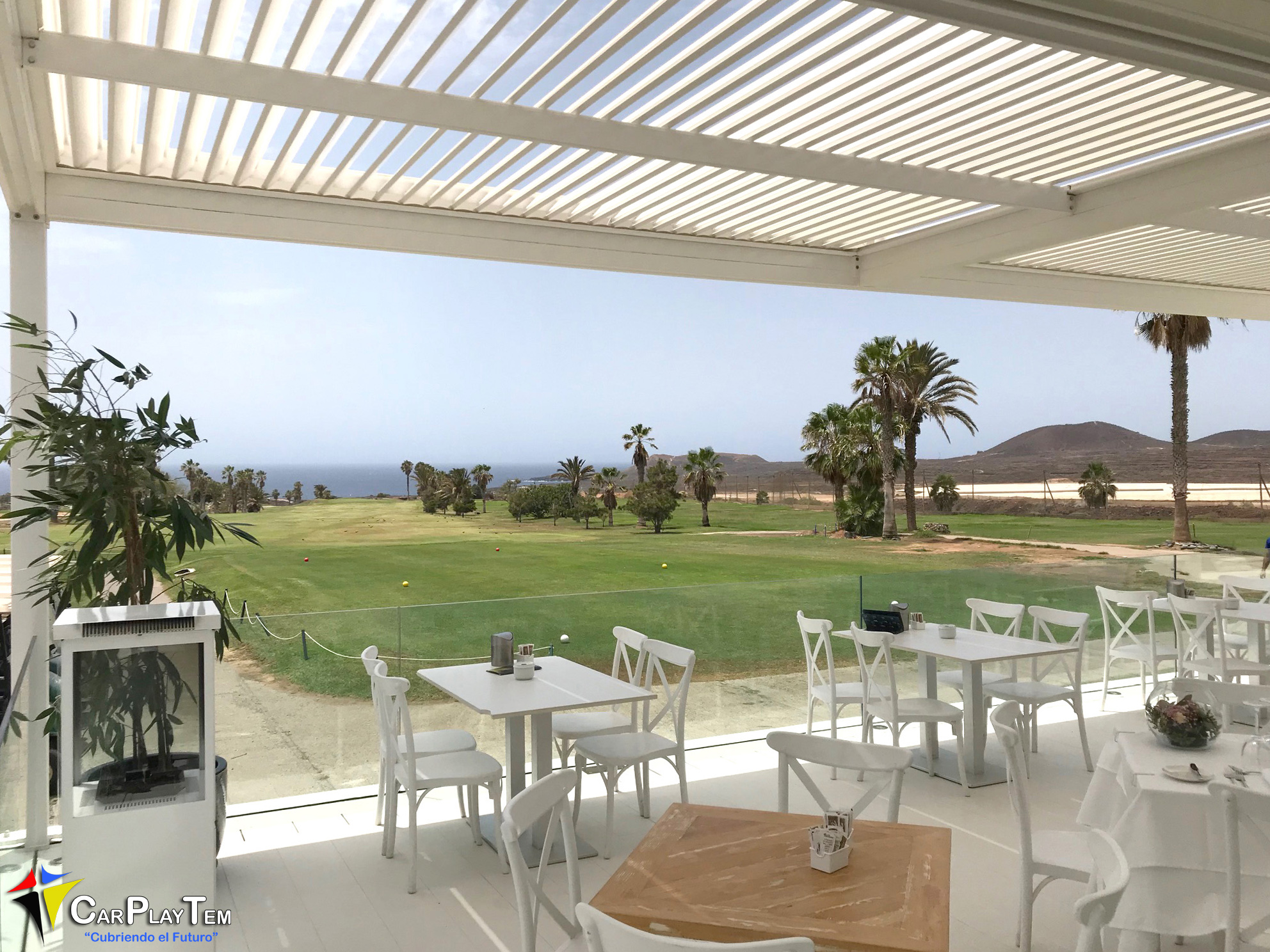 Pérgola Bioclimatica. Amarilla Golf. Tenerife