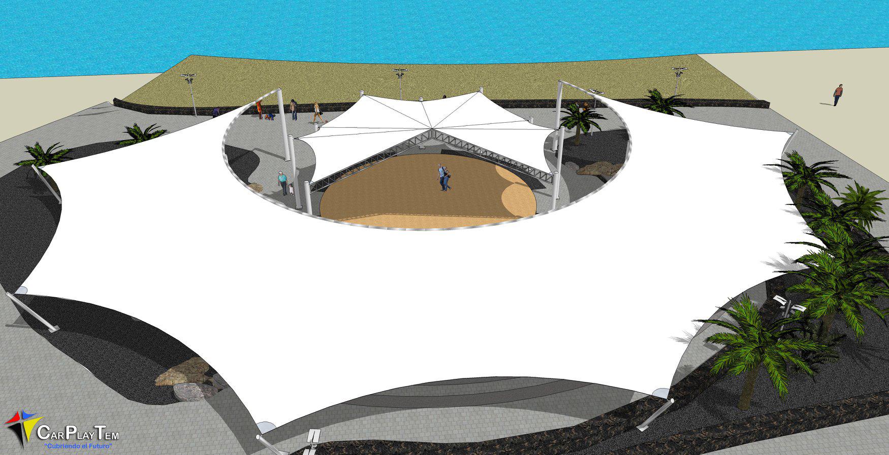 Proyecto Personalizado para terraza en Playa de las Cucharas. Lanzarote.