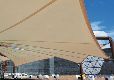 Cubiertas Tensada con Arquitectura Textil por CarPlayTem en Canarias