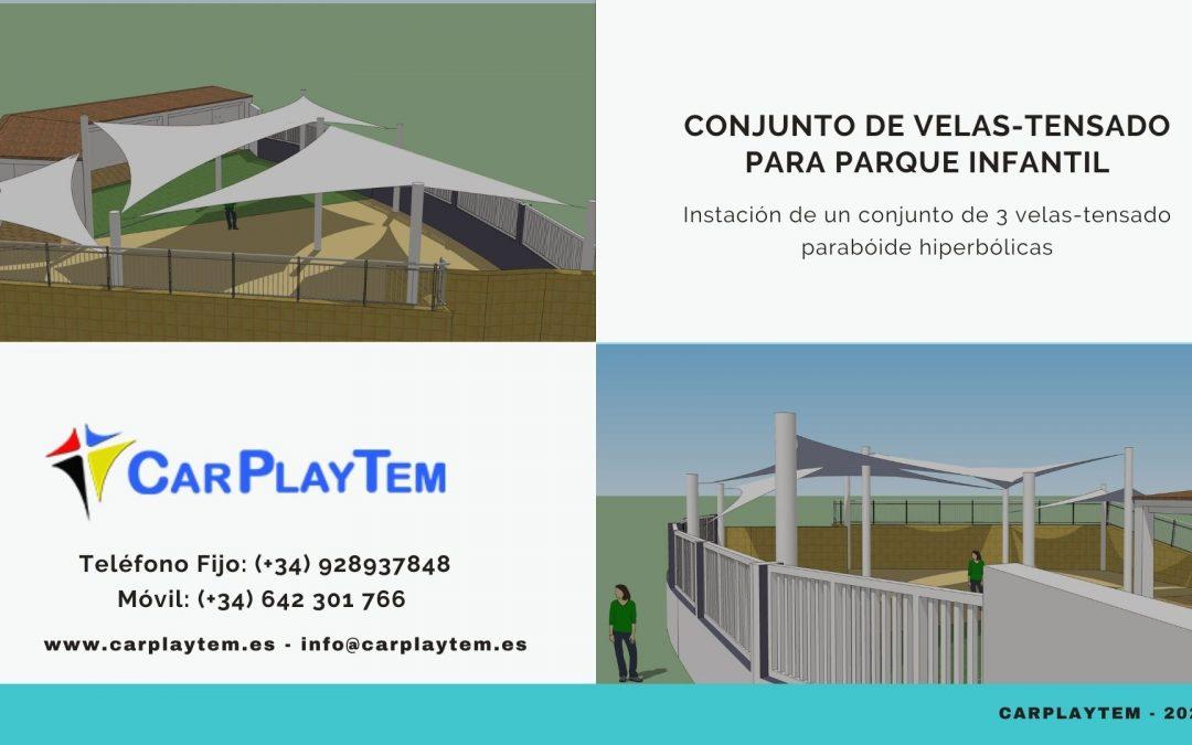 Conjunto de Velas-Tensado para parque Infantil – CarPlayTem